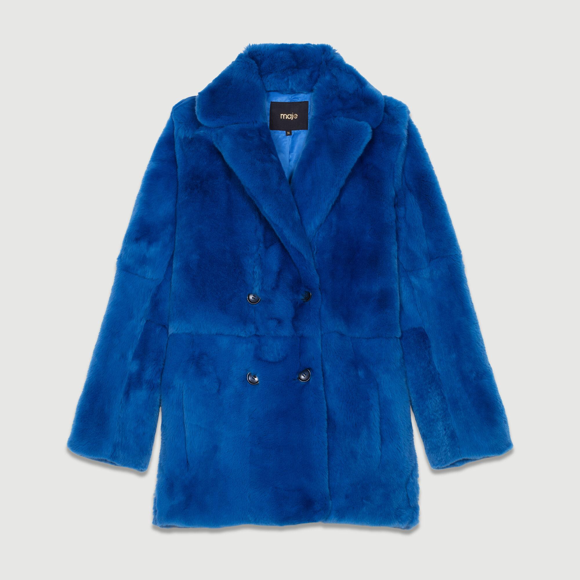 Maje Gati Pz5rz Fur corto Paris en Coat Abrigos Abrigo vmwn0N8