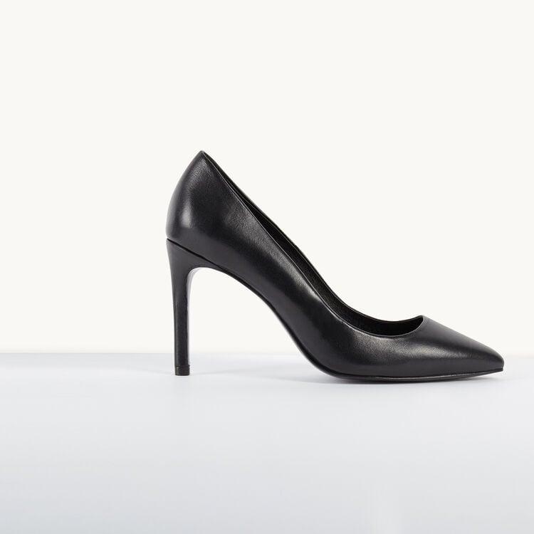 Escarpins en cuir : Chaussures couleur Black