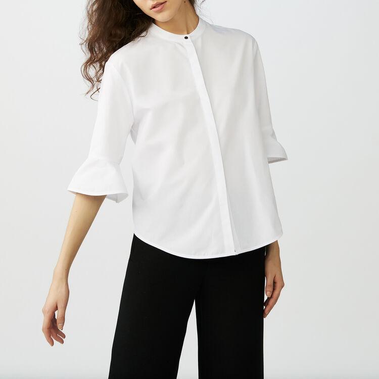 Chemise en popeline : Chemises couleur Blanc