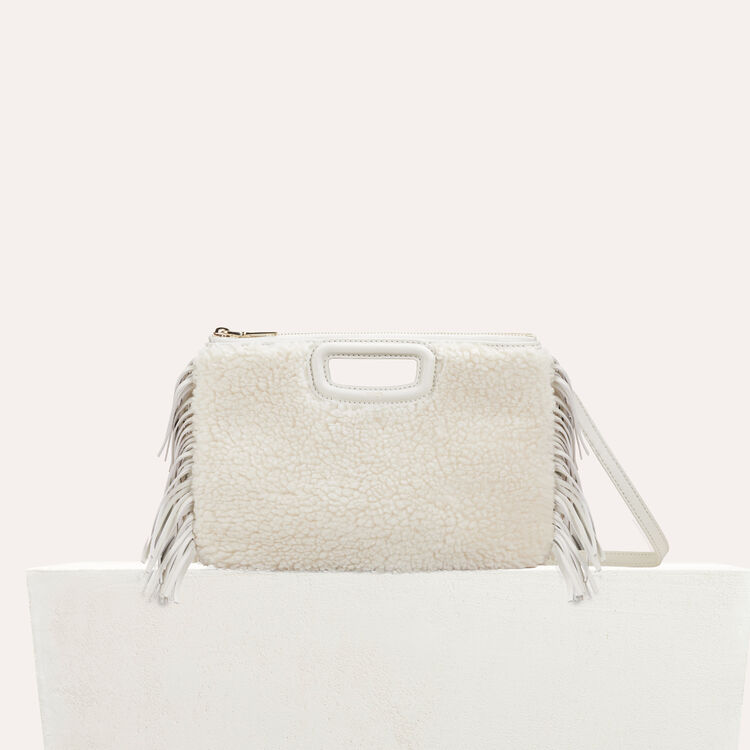 Pochette M Duo en shearling  : M Duo couleur Blanc