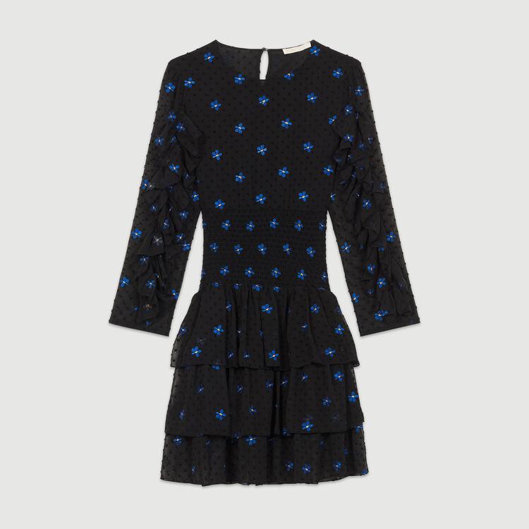 Robe en mousseline brodée : Robes couleur Black