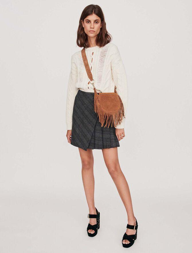Jupe courte plissée à carreaux - Jupes & Shorts - MAJE