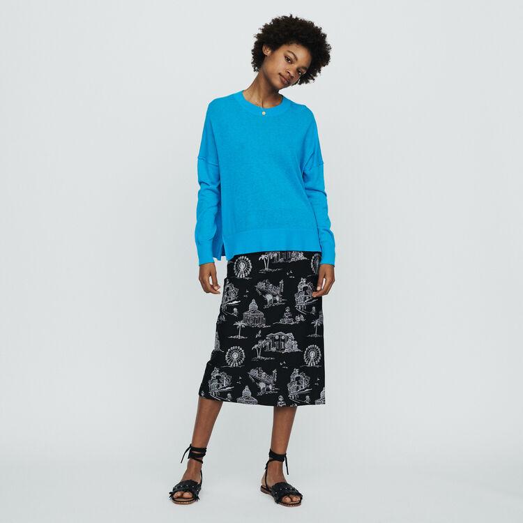 Pull oversize en cachemire : Pulls & Cardigans couleur Bleu
