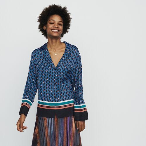 Chemise façon pyjama à imprimé : Chemises couleur IMPRIME