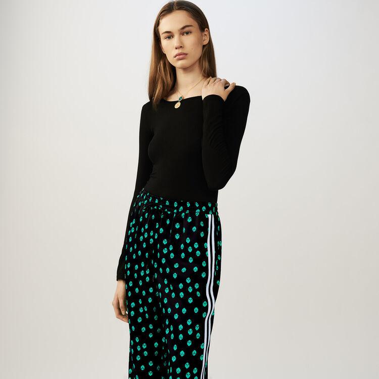 Body à manches longues en jersey : Maille couleur Black