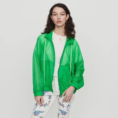 Coupe-vent léger à capuche : Manteaux & Blousons couleur Vert