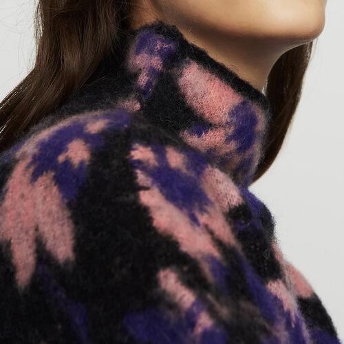Pull imprimé en laine mélangée : Maille couleur MULTICO