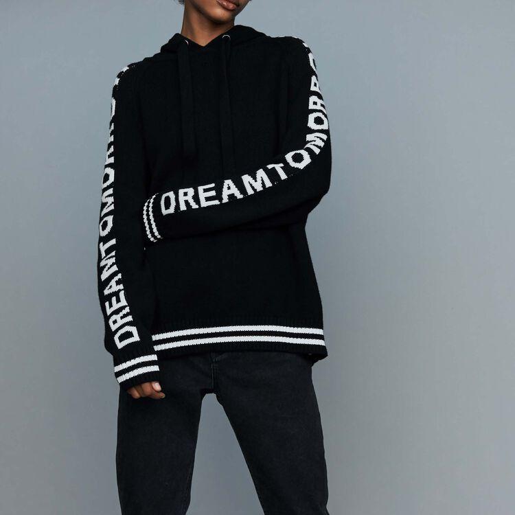 Pull oversize à capuche : Urban couleur Black