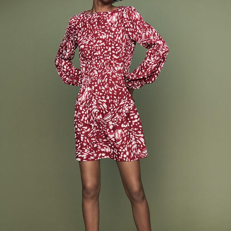 Robe plissée à imprimé fantaisie : Robes couleur IMPRIME