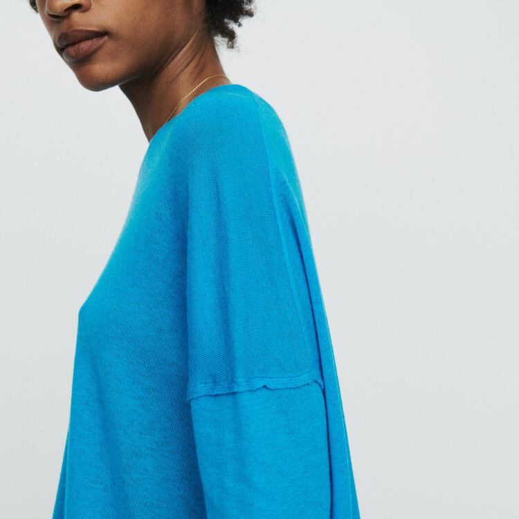 Pull oversize en cachemire : Maille couleur Bleu