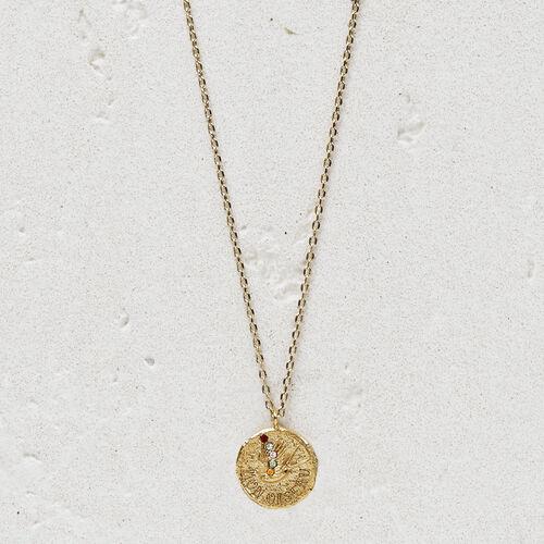 """Collier avec médaillon """"Mon oiseau"""" : Bijoux couleur OR"""