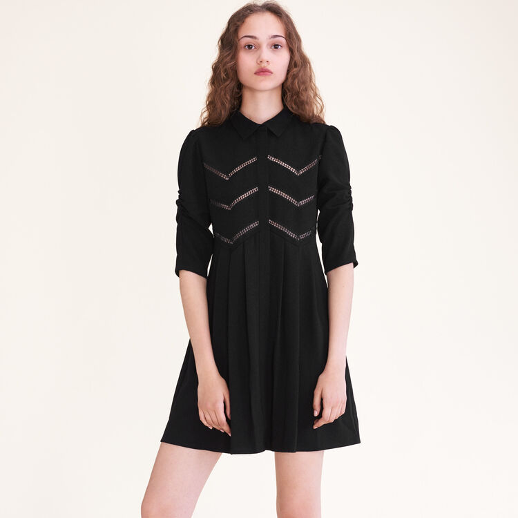 Robe chemise avec galons : Robes couleur Black