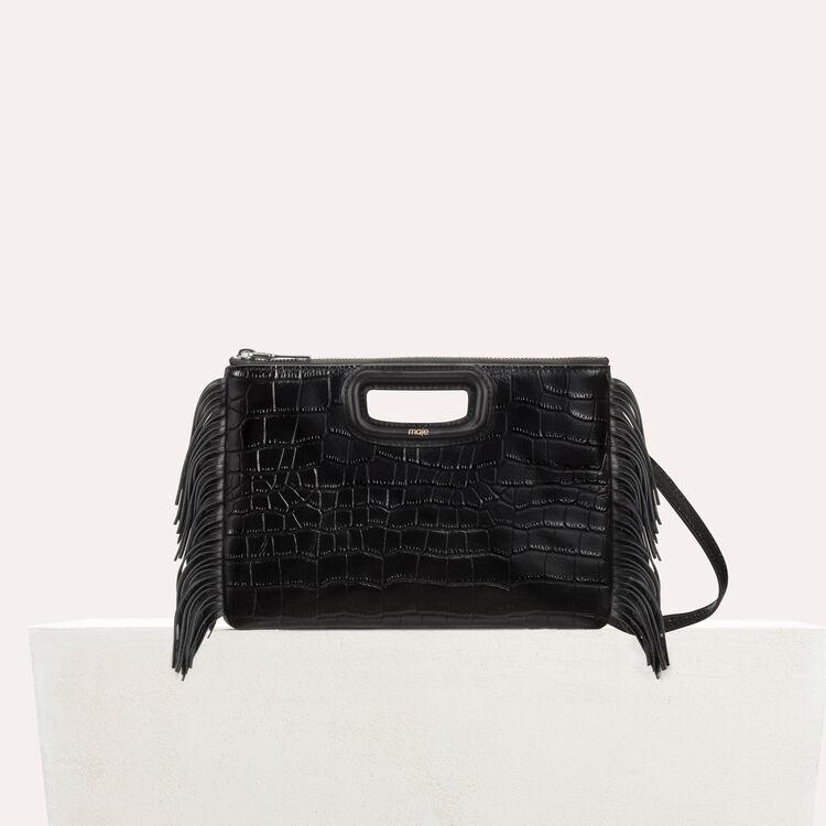 Pochette M Duo en cuir : Nouvelle Collection couleur Black