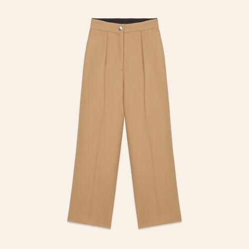 Pantalon de tailleur large - Pantalons - MAJE