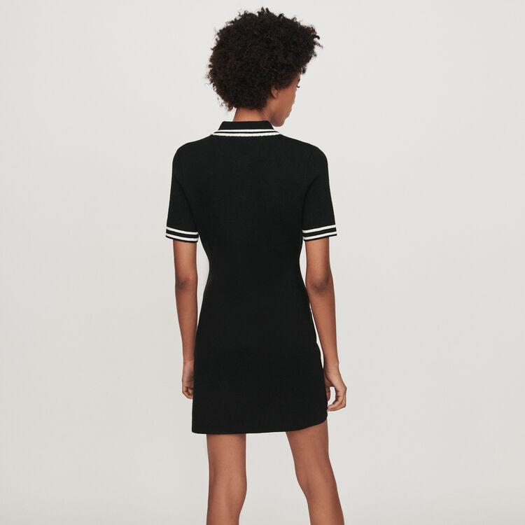 Robe droite détails bijoux : Robes couleur Noir