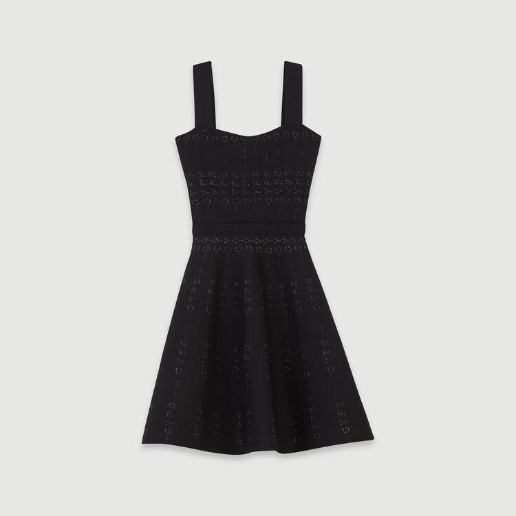 Robe en maille et Lurex : Robes couleur Noir