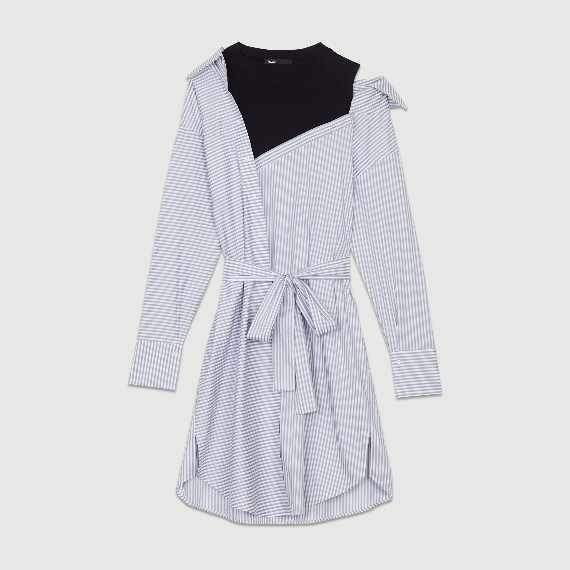 Riava Robes Chemise Paris Robe À Rayures Déstructurée Maje rwXgrx58q