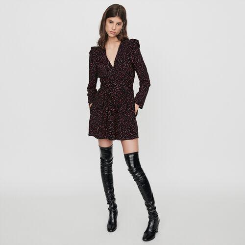 Combinaison-short imprimée trompe-l'œil : Jupes & Shorts couleur Noir
