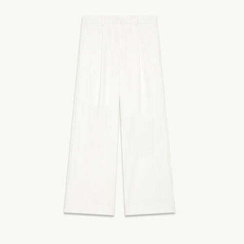 Pantalon large à pinces - null - MAJE