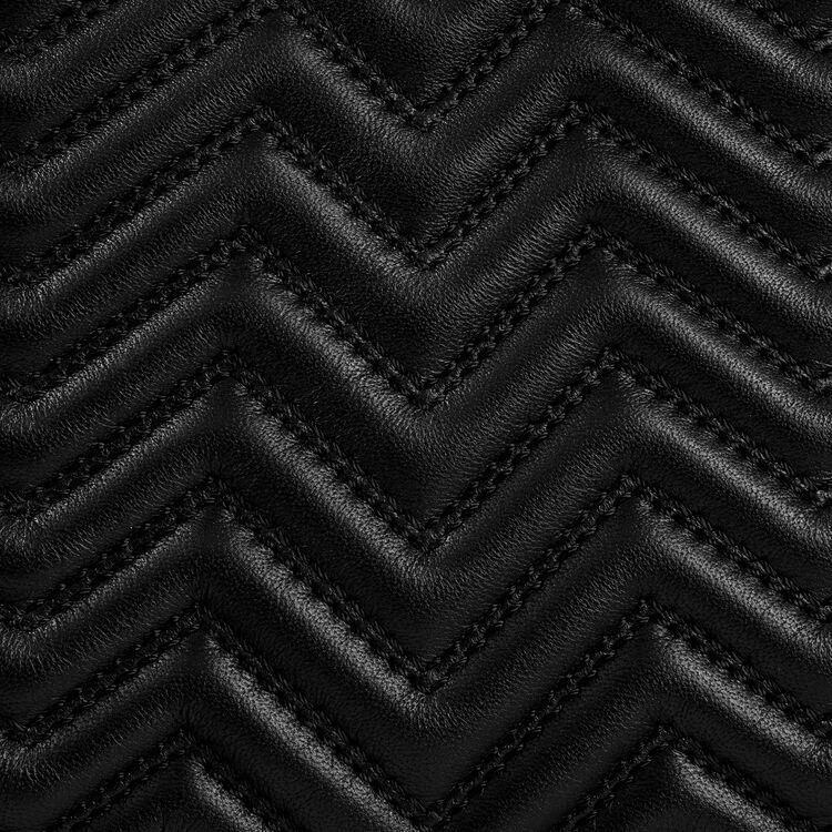 Sac M en cuir matelassé : Sac M couleur BLACK