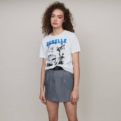 Tee-shirt sérigraphié : T-Shirts couleur Noir