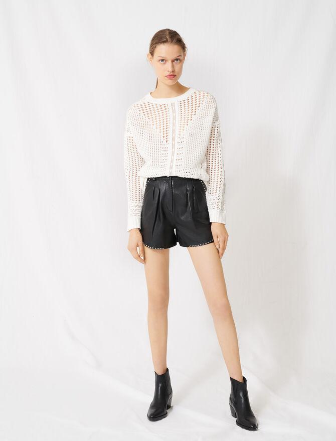 Pull en crochet et bandes de dentelles - Pulls & Cardigans - MAJE
