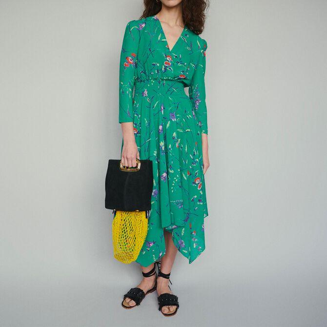 Robe longue à imprimé floral -  - MAJE