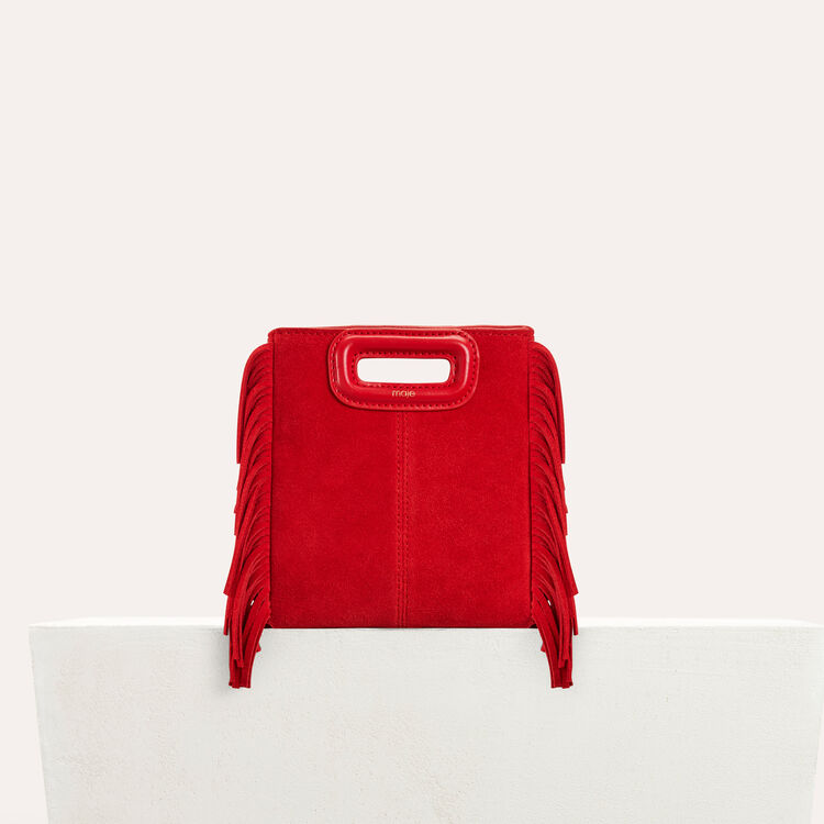 Sac M Mini en suède : M Mini couleur Rouge