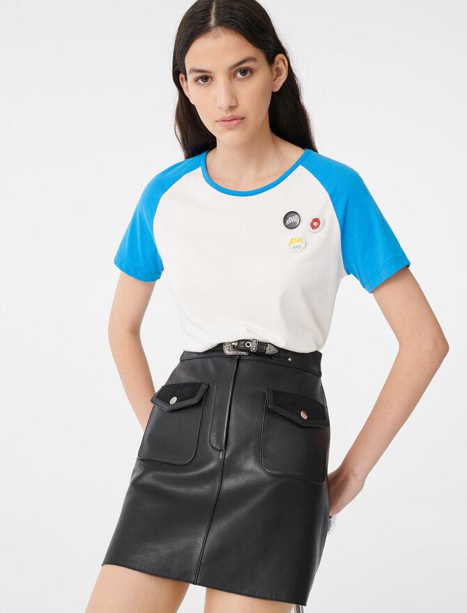 Tee-Shirt à manches contrastées -  - MAJE