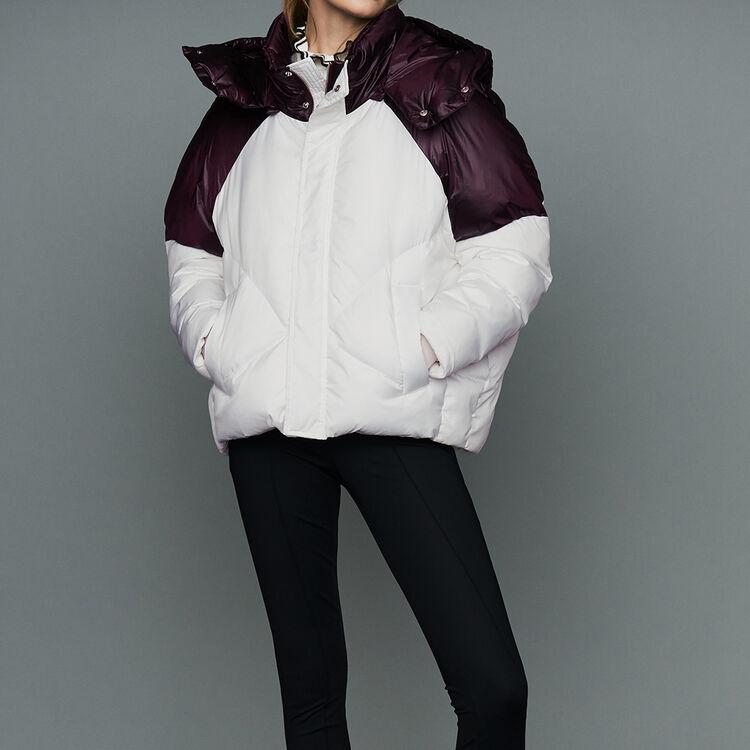 Doudoune courte bicolore : Manteaux couleur Blanc