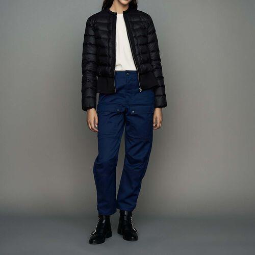 Doudoune courte avec basque : Manteaux couleur Black
