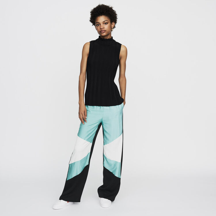 Top plissé sans manches : Tops & Chemises couleur Black
