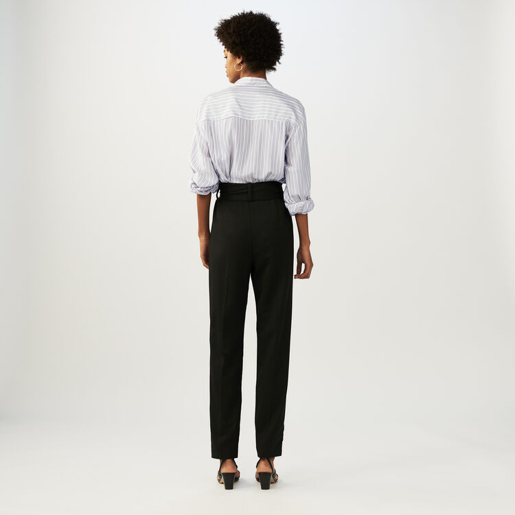 PARIS - Pantalon carotte avec ceinture - Pantalons   Maje Paris 3101e87aaaa