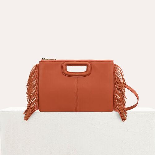 Pochette M Duo en cuir : M Duo couleur Rouge