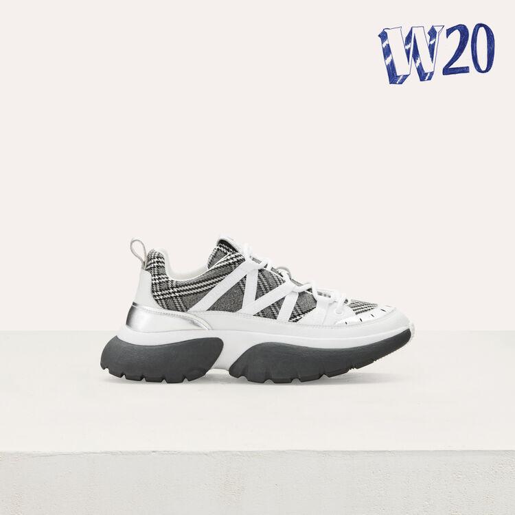 Sneakers W20 urbaines à carreaux : Tout voir couleur MULTICO