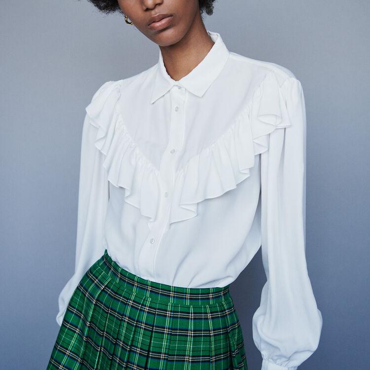 Chemise à volants : Tops & Chemises couleur Blanc