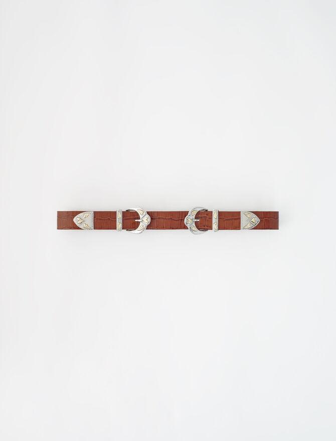 Ceinture double boucle western - Tous les accessoires - MAJE