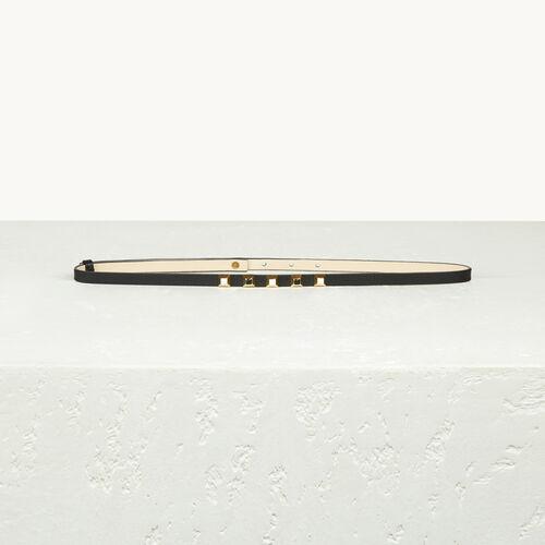 Fine ceinture en cuir avec stucs - null - MAJE