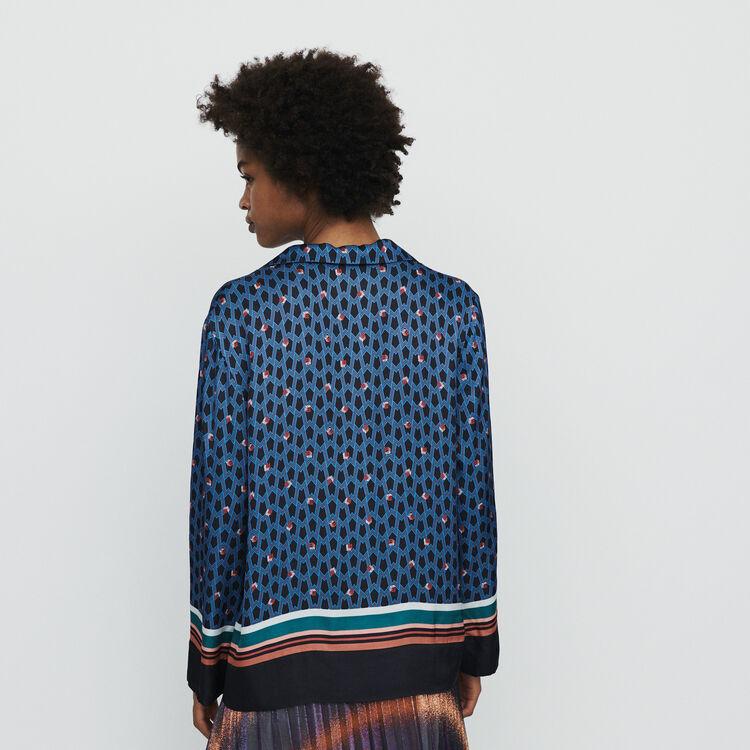 Chemise façon pyjama à imprimé : Tops & Chemises couleur IMPRIME