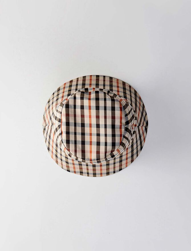 Bob réversible en coton à carreaux - Bonnets et bobs - MAJE