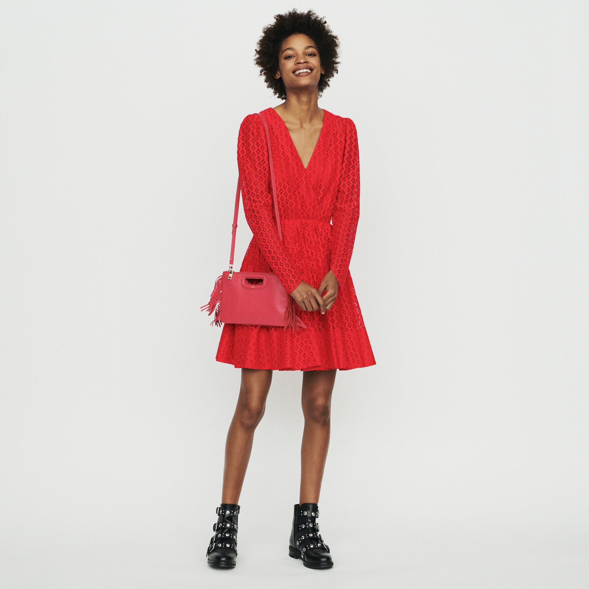 Robe rouge magasin paris