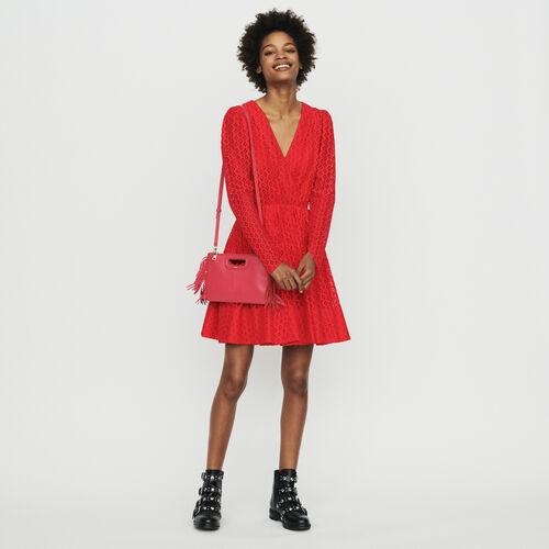 90f601f5f71 Robes true Robe en guipure géométrique   Robes couleur Rouge