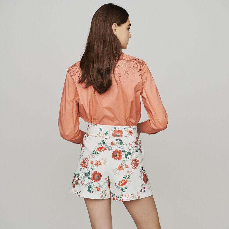 Short en jean à imprimé floral : Jupes & Shorts couleur IMPRIME