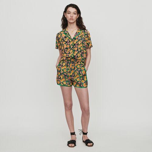Chemise imprimée façon pyjama : Chemises couleur Imprime