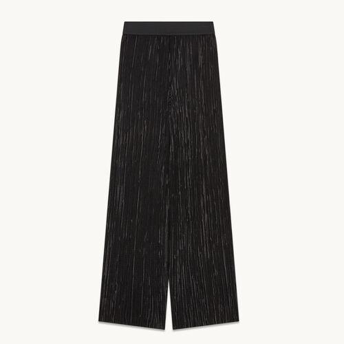 Pantalon plissé réversible - null - MAJE
