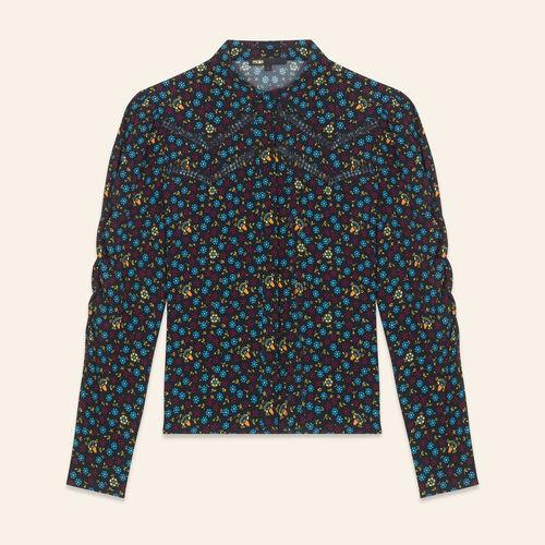 Chemisier à imprimé floral - Chemises - MAJE