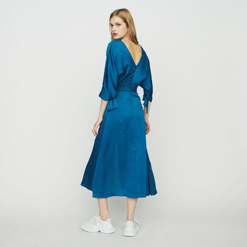 Robe longue décolletée : Robes couleur Bleu
