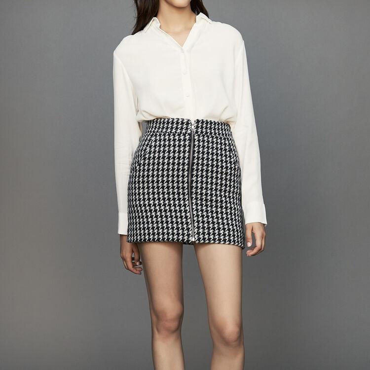 Jupe courte en pied-de-poule : Jupes & Shorts couleur Jacquard