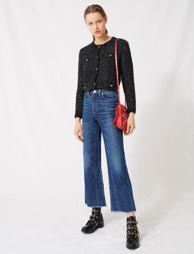 Jean taille haute et jambe large - Pantalons & Jeans - MAJE