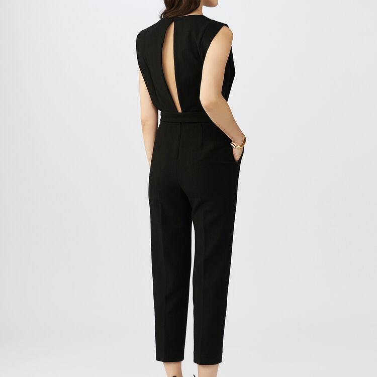 Combi-pantalon sans manches : Pantalons couleur Black